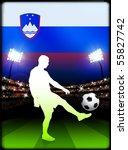 slovenia soccer player on...   Shutterstock .eps vector #55827742