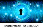 safety concept  closed padlock... | Shutterstock .eps vector #558280264