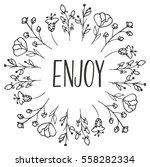 herbal frame enjoy. organic... | Shutterstock .eps vector #558282334