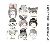 cartoon boys and girls... | Shutterstock .eps vector #558284356