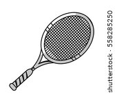 tennis racket icon over white... | Shutterstock .eps vector #558285250