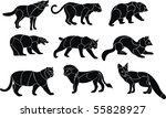 predators animal vector set | Shutterstock .eps vector #55828927