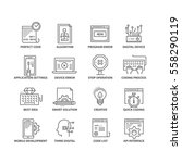 thin line flat conceptual icons.... | Shutterstock .eps vector #558290119