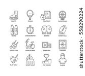 thin line flat conceptual icons.... | Shutterstock .eps vector #558290224