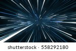 radial blurred rays. computer... | Shutterstock . vector #558292180