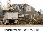 tree removal service truck at a ... | Shutterstock . vector #558292840