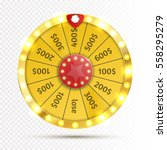 colorful wheel of luck or... | Shutterstock .eps vector #558295279