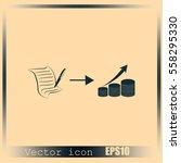 business finance career icons | Shutterstock .eps vector #558295330
