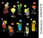 vector illustration of cocktail ... | Shutterstock .eps vector #558296578
