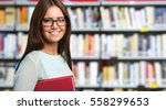 portrait of a smiling student...   Shutterstock . vector #558299653