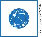 earth icon. globe. | Shutterstock .eps vector #558299839