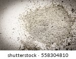 ashes  a pile of ash isolated... | Shutterstock . vector #558304810