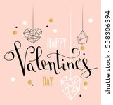 happy valentines day love... | Shutterstock .eps vector #558306394