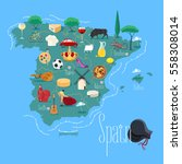 map of spain vector... | Shutterstock .eps vector #558308014