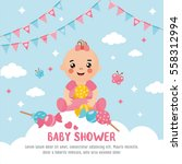Baby Shower Card. A Cute Baby...