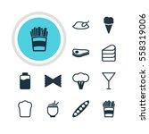 illustration of 12 cooking... | Shutterstock . vector #558319006