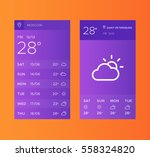 ui elements  weather...