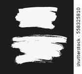 paint banners. brush strokes.... | Shutterstock .eps vector #558325810