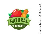 vector logo natural products | Shutterstock .eps vector #558326764