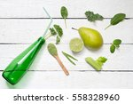 green abstract smoothie with... | Shutterstock . vector #558328960