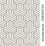 vector seamless pattern. modern ... | Shutterstock .eps vector #558333724