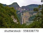 gocta waterfall  771m high.... | Shutterstock . vector #558338770