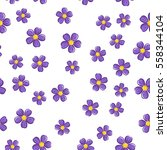 seamless floral pattern with...   Shutterstock .eps vector #558344104