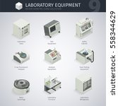 laboratory equipment. vector... | Shutterstock .eps vector #558344629