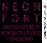 neon font city text  night... | Shutterstock .eps vector #558348304