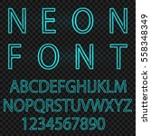 neon font city text  night... | Shutterstock .eps vector #558348349