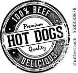 vintage hot dogs restaurant... | Shutterstock .eps vector #558350878