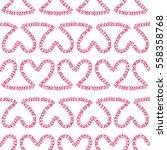 romantic seamless pattern....   Shutterstock .eps vector #558358768