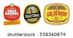 colorful beer labels set for... | Shutterstock .eps vector #558360874