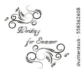 waiting for summer calligraphy. ... | Shutterstock .eps vector #558362608