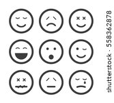 emoticon set with different... | Shutterstock .eps vector #558362878