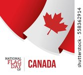 national flag day of canada... | Shutterstock .eps vector #558362914