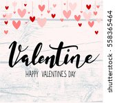 Valentine Background With...