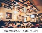 restaurant in bokeh  defocused...   Shutterstock . vector #558371884