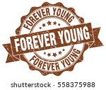 forever young. stamp. sticker.... | Shutterstock .eps vector #558375988