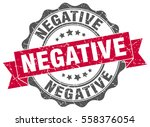 negative. stamp. sticker. seal. ... | Shutterstock .eps vector #558376054