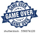 game over. stamp. sticker. seal.... | Shutterstock .eps vector #558376120