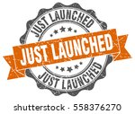 just launched. stamp. sticker.... | Shutterstock .eps vector #558376270