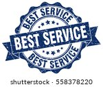 best service. stamp. sticker.... | Shutterstock .eps vector #558378220