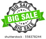 big sale. stamp. sticker. seal. ... | Shutterstock .eps vector #558378244