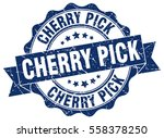 cherry pick. stamp. sticker.... | Shutterstock .eps vector #558378250