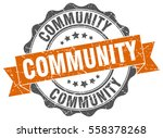 community. stamp. sticker. seal.... | Shutterstock .eps vector #558378268