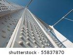 white metal bridge close up | Shutterstock . vector #55837870