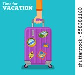 vacation and tourism concept... | Shutterstock .eps vector #558381160