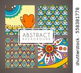 set of four vector intricate... | Shutterstock .eps vector #558381778