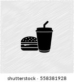 fast food    black vector icon | Shutterstock .eps vector #558381928